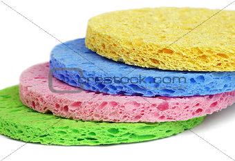 Facial cleansing sponges