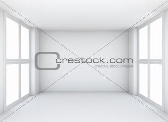 Abstract white empty interior background