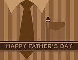 Happy Fathers Day Shirt Tie Illustration