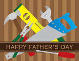 Happy Fathers Day Tools Illustration