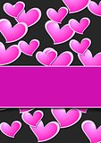 Valentine Day abstract background wit pink hearts