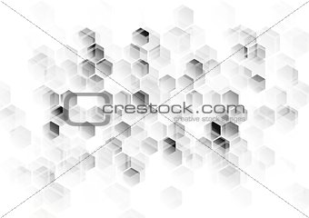 Abstract light grey tech background