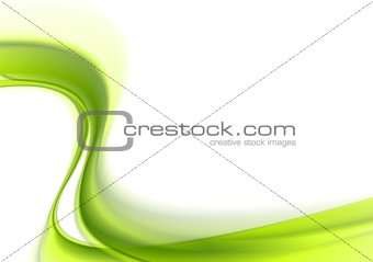 Green abstract bright waves background