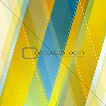 Abstract polygonal geometric blue orange background