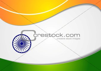 Wavy background. Colors of India