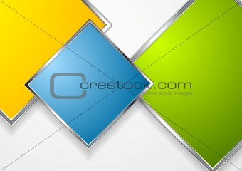 Bright squares with metallic frame