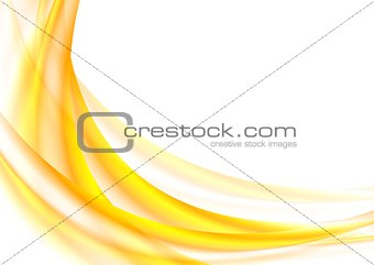 Bright orange vector waves