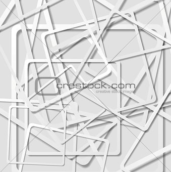 Abstract light grey vector squares background