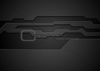 Abstract black technology corporate vector design
