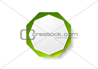 Abstract geometric octagon shape vector sticker