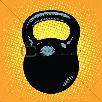 Black retro kettlebell sports equipment