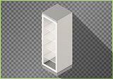Refrigerator flat isometric fridge 3d