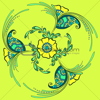 floral ornament, indian style