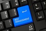 Blue Best Management Key on Keyboard.