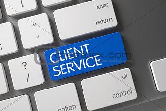 Blue Client Service Keypad on Keyboard.
