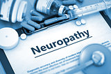 Neuropathy Diagnosis. Medical Concept. Composition of Medicament