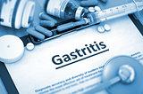 Gastritis Diagnosis. Medical Concept. Composition of Medicaments