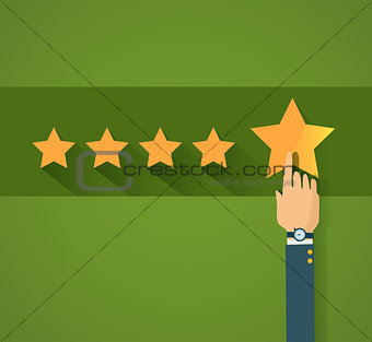Flat design customer review, vector