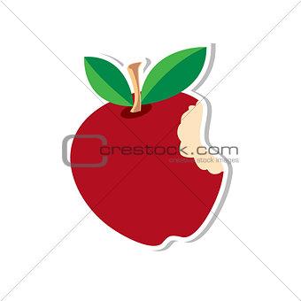 Apple-Sticker-Red vector illustration