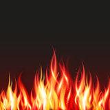 Fire flame frame border