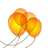 Orange Balloons vector illustration