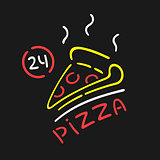 Vector Neon Sign Pizza