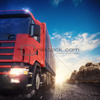3D rendering of truck transport