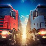 3D rendering of truck transport