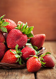 Fresh organic ripe strawberry