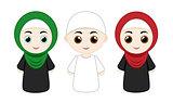 set of muslim people