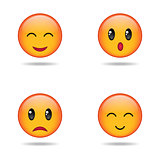 Set of emoji