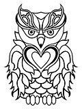 Big serious owl outline
