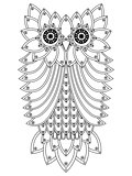 Big ornamental owl outline