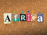 Africa Concept Pinned Letters Illustration