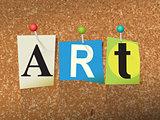 Art Concept Pinned Letters Illustration