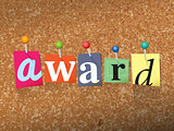 Award Concept Pinned Letters Illustration