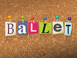 Ballet Concept Pinned Letters Illustration