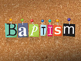 Baptism Concept Pinned Letters Illustration