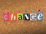 Change Concept Pinned Letters Illustration