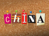 China Concept Pinned Letters Illustration