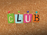 Club Concept Pinned Letters Illustration
