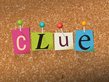 Clue Concept Pinned Letters Illustration