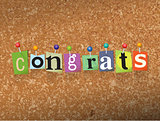 Congrats Concept Pinned Letters Illustration