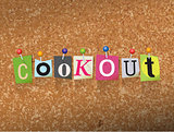 Cookout Concept Pinned Letters Illustration