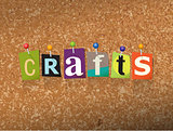 Crafts Concept Pinned Letters Illustration
