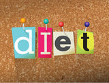Diet Concept Pinned Letters Illustration