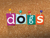 Dogs Concept Pinned Letters Illustration