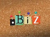 Dot BIz Concept Pinned Letters Illustration