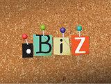 Dot BIz Concept Pinned Letters Illustration