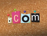 Dot Com Concept Pinned Letters Illustration